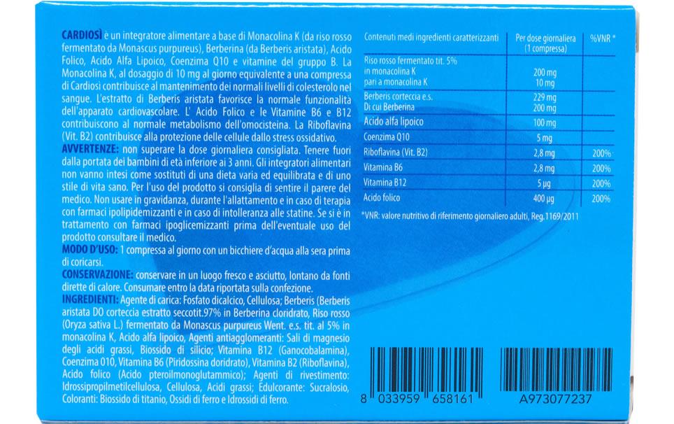 Cardiosì Plus 20 compresse da 1080mg - Integratore alimentare - Confezione singola